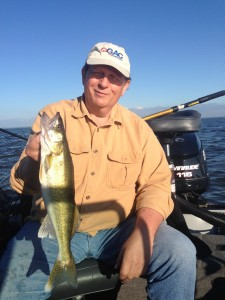 Kurt Kenzler jigged up a dandy walleye